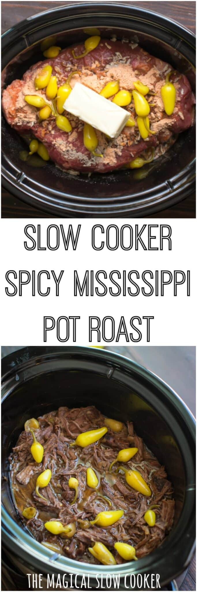 Slow Cooker Spicy Mississippi Pot Roast