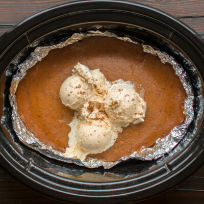 Slow Cooker Crustless Brown Sugar Pie