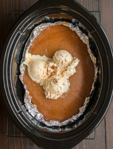 Slow Cooker Crustless Brown Sugar Pumpkin Pie