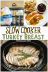 collage of turkey breast photos with text overlay for pinterest
