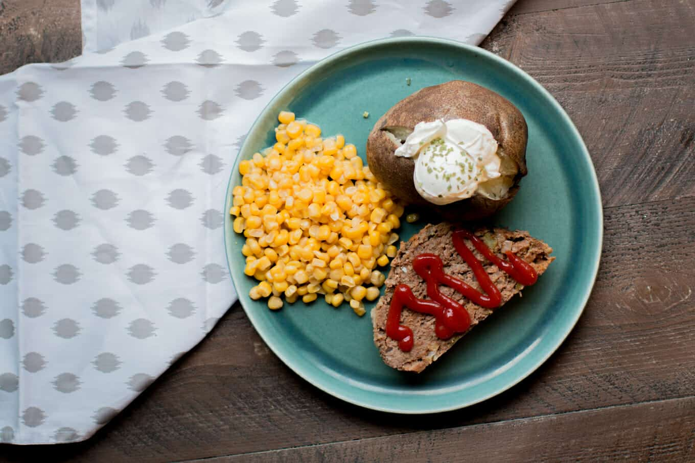 Slow Cooker Meatloaf and Baked Potatoes