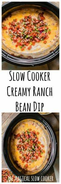 Slow Cooker Creamy Ranch Bean Dip