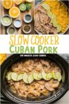 collage of cuban pork images with text overlay for pinterest