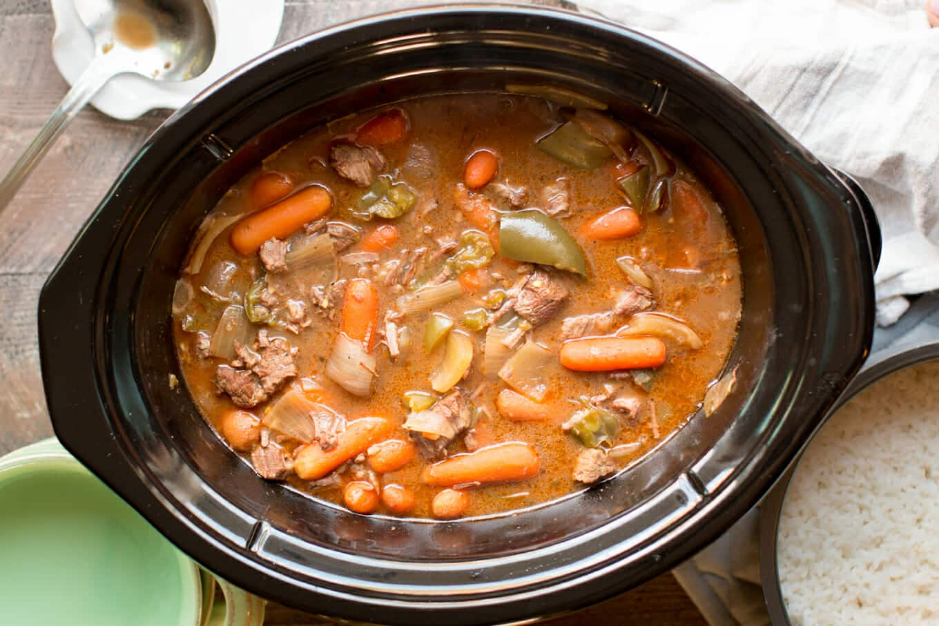 cooked a1 beef stew in a slow cooker
