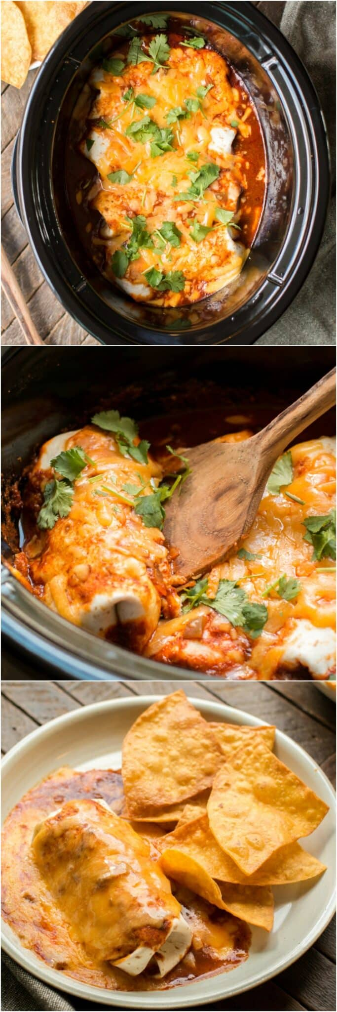 Slow Cooker Smothered Beef Burritos
