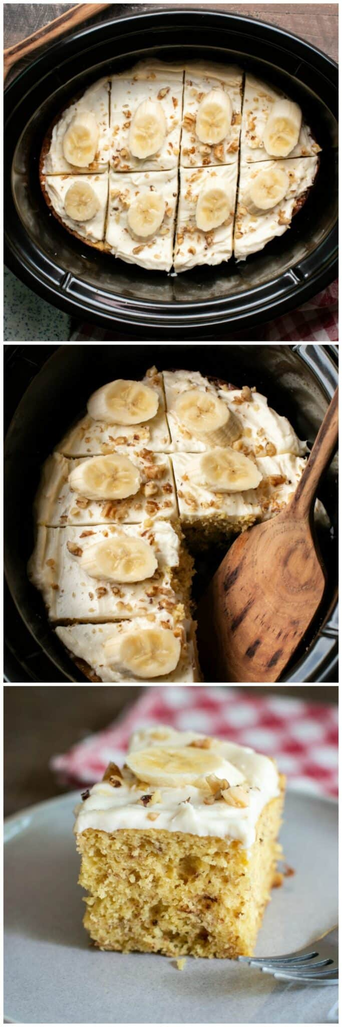Slow Cooker Banana Nut Cake