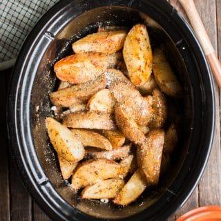 Slow Cooker Cajun Parmesan Potatoes