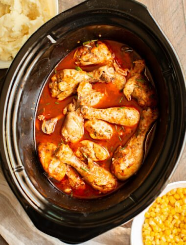 Slow Cooker Buffalo Ranch Drumsticks