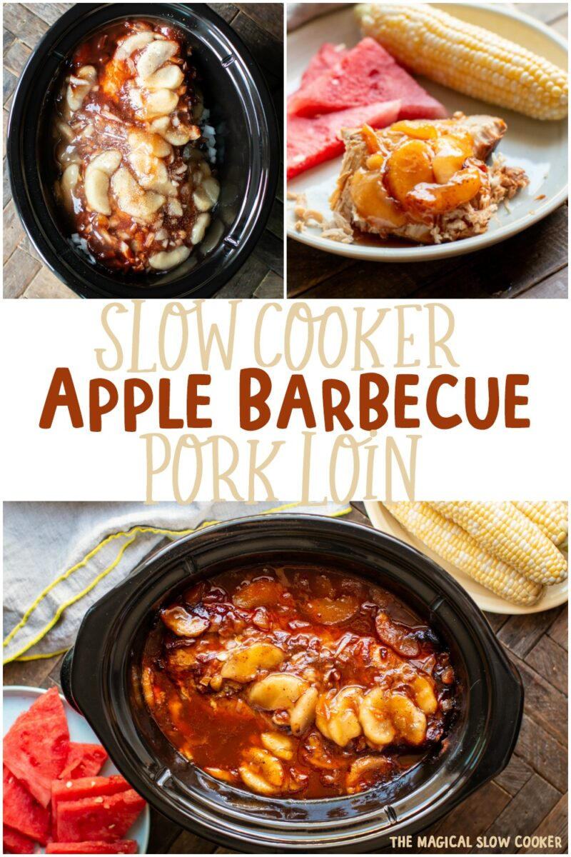 collage of apple barbecue pork loin images for pinterest