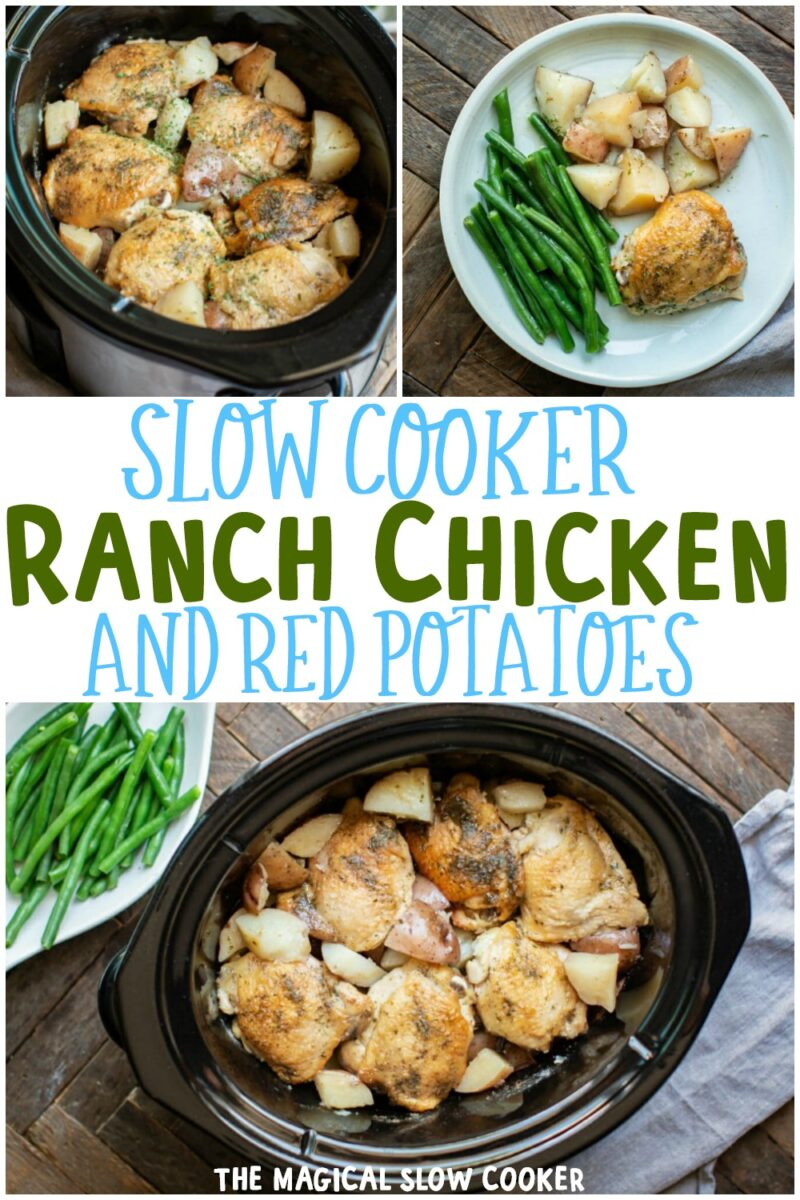 collage of ranch chicken and potato images for pinterest