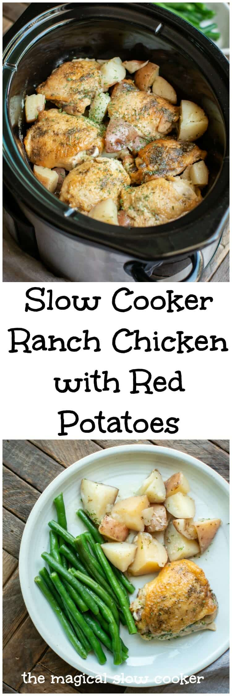 Slow Cooker Ranch Chicken with Red Potatoes