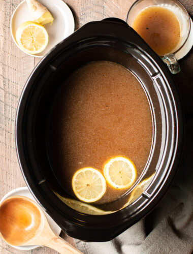Slow Cooker Beef Bone Broth