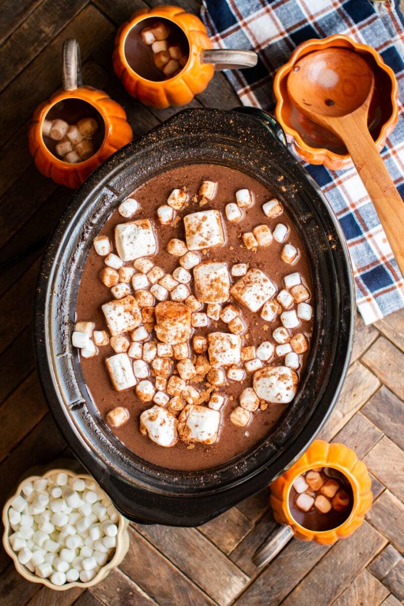 Slow Cooker Pumpkin Spice Hot Chocolate
