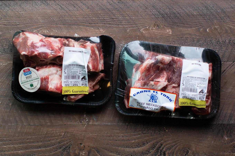 2 packages of beef bones in packaging.