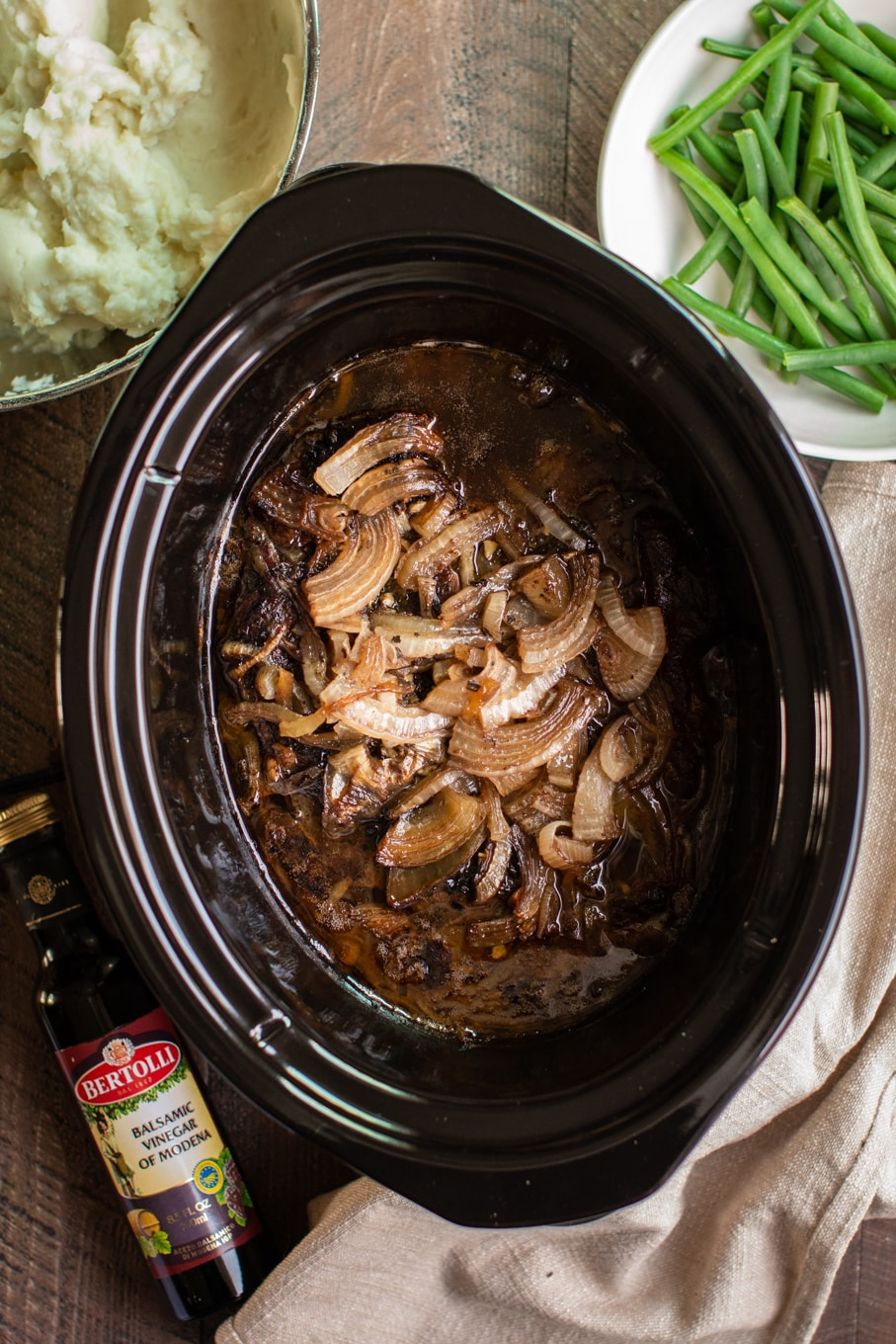 Slow Cooker Balsamic Beef Pot Roast