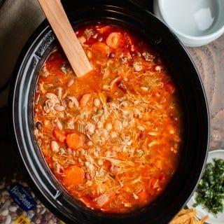 15 Bean Buffalo Chicken Soup