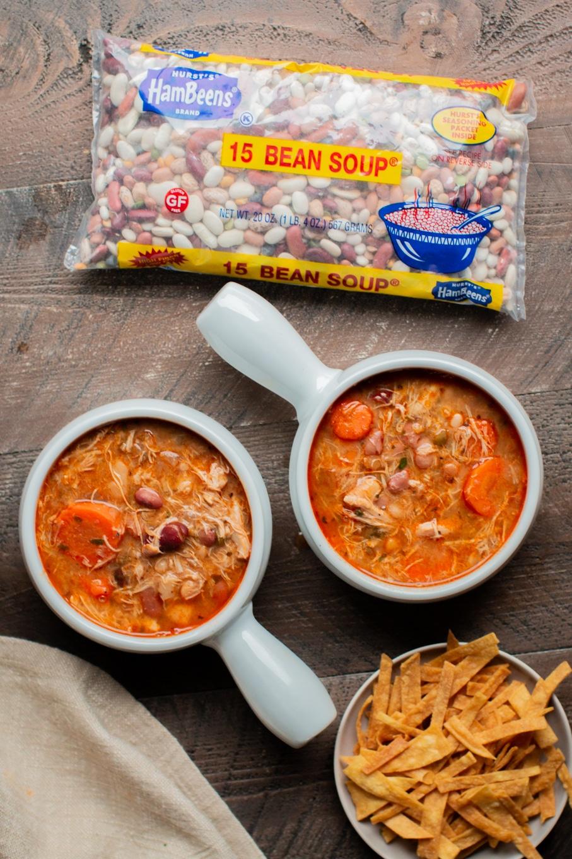 Slow Cooker 15 Bean Buffalo Chicken Soup
