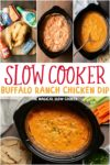 collage of buffalo chicken dip images for pinterest