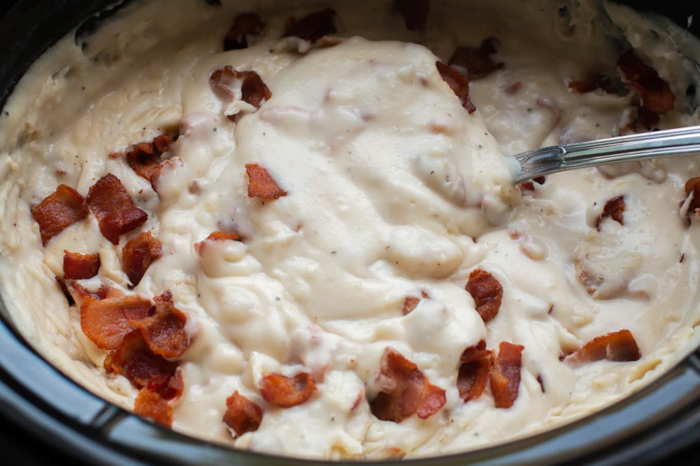 Slow Cooker Potato Bacon Soup