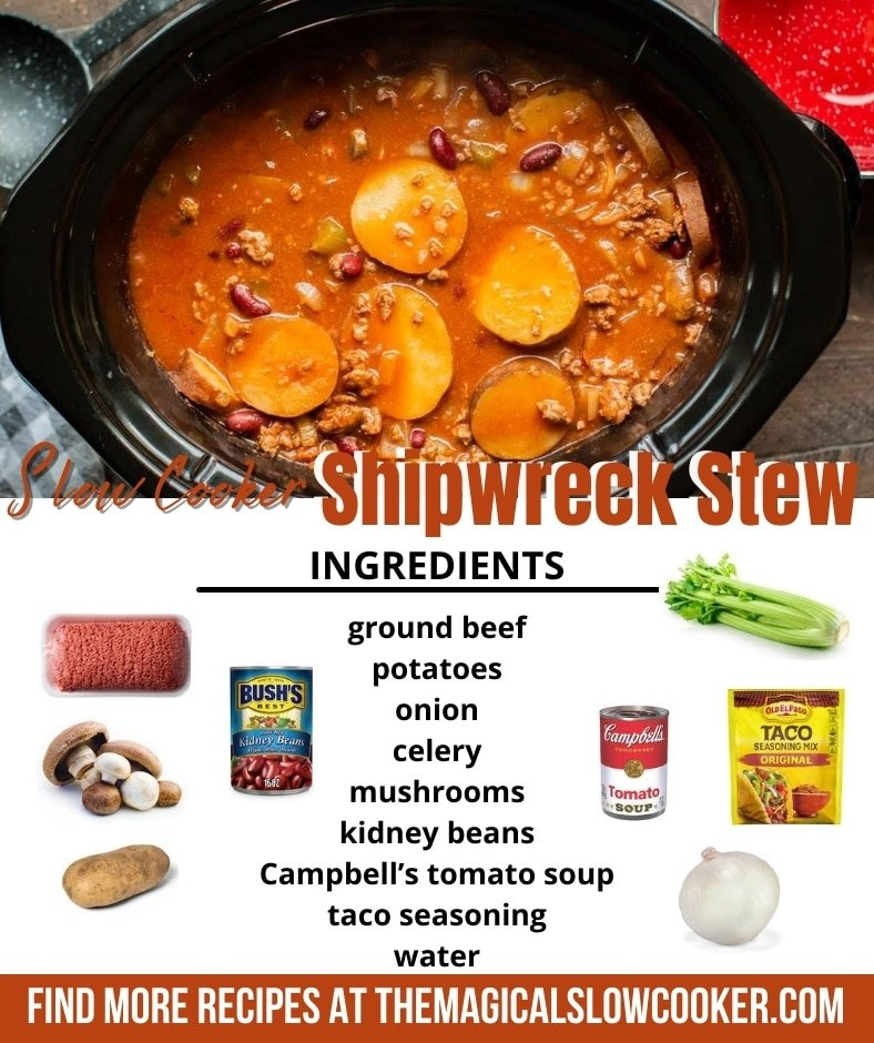 collage of shipwreck stew for pinterest