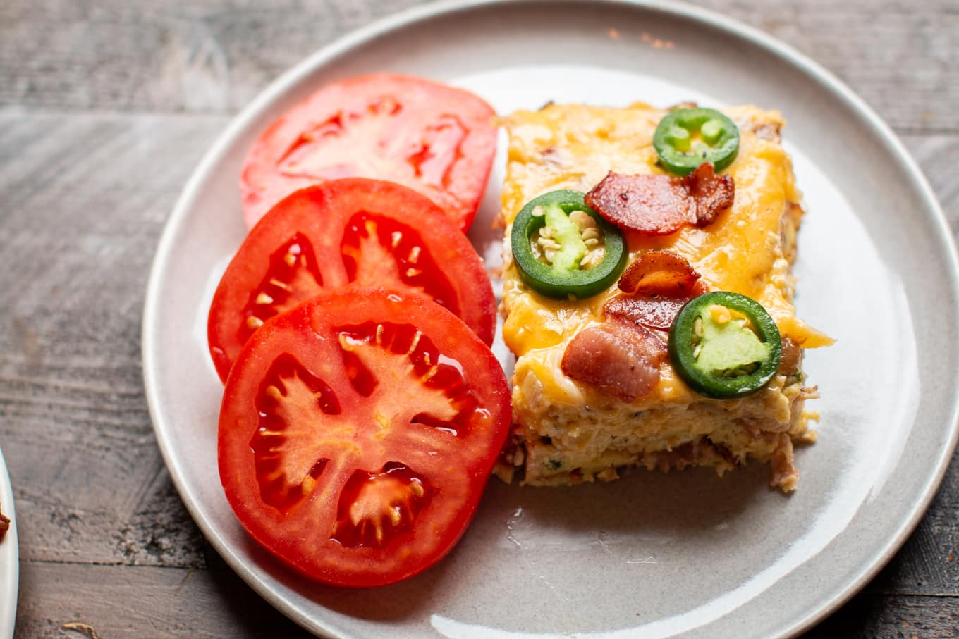 Slow Cooker Jalapeno Bacon Crustless Quiche