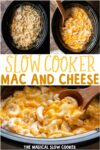 collage of mac and cheese photos for pinterest
