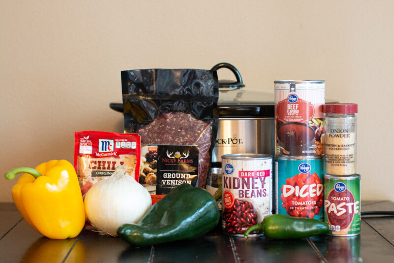 Slow Cooker Venison Chili