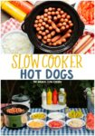 collage of hot dog images for pinterest