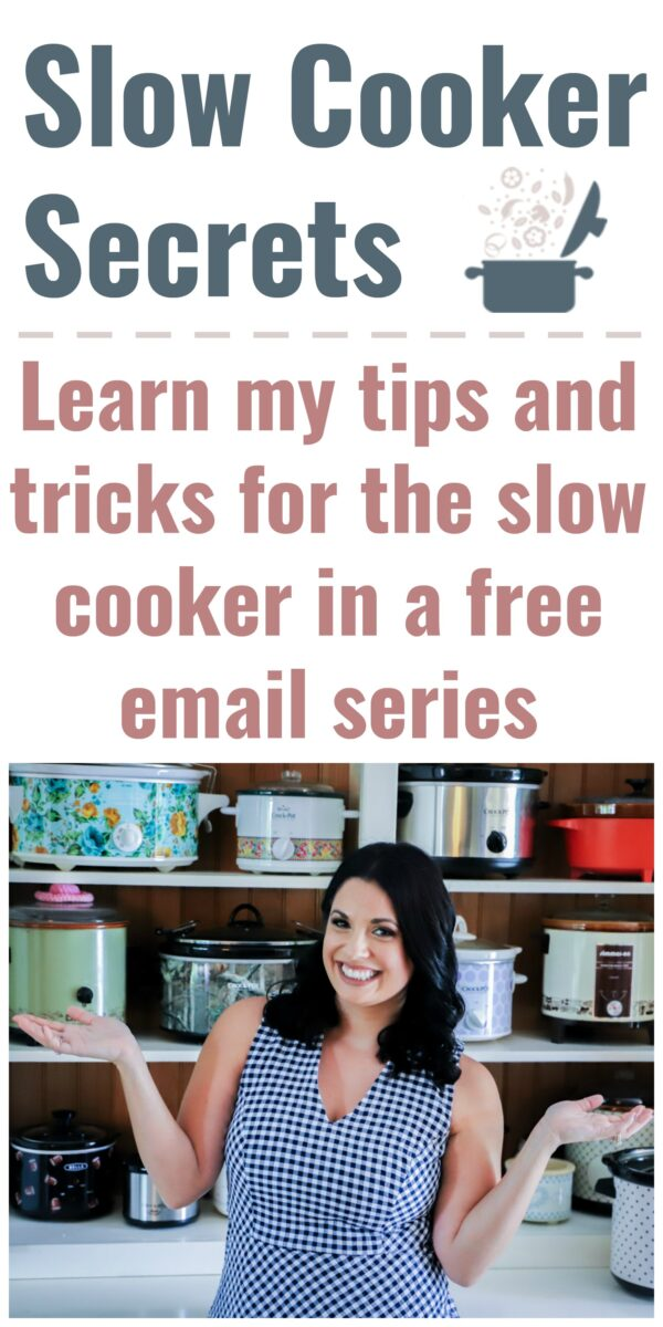 Slow Cooker Secrets email sign up image with text