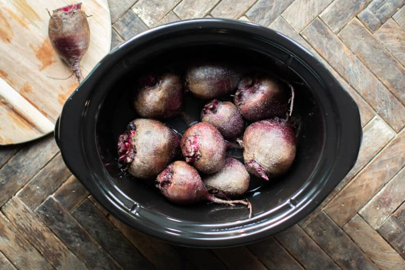 How to make Beets in the Slow Cooker