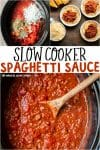 collage of spaghetti sauce images for pinterest