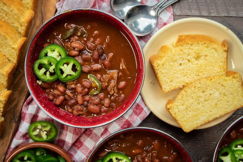 Slow Cooker Spicy Barbecue Cowboy Beans