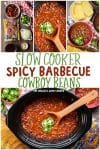 Slow Cooker Spicy Cowboy Beans Collage