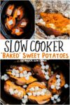 Collage of baked sweet potato images for pinterest