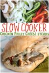 collage of philly cheese steaks for pinterest