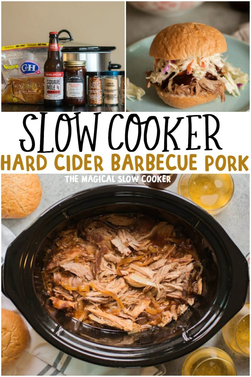 collage of pulled pork images with text overlay for pinterest