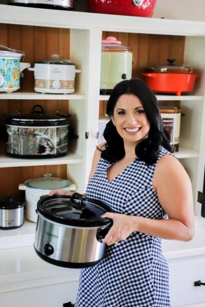 Sarah Olson - Head Shot holding slow cooker