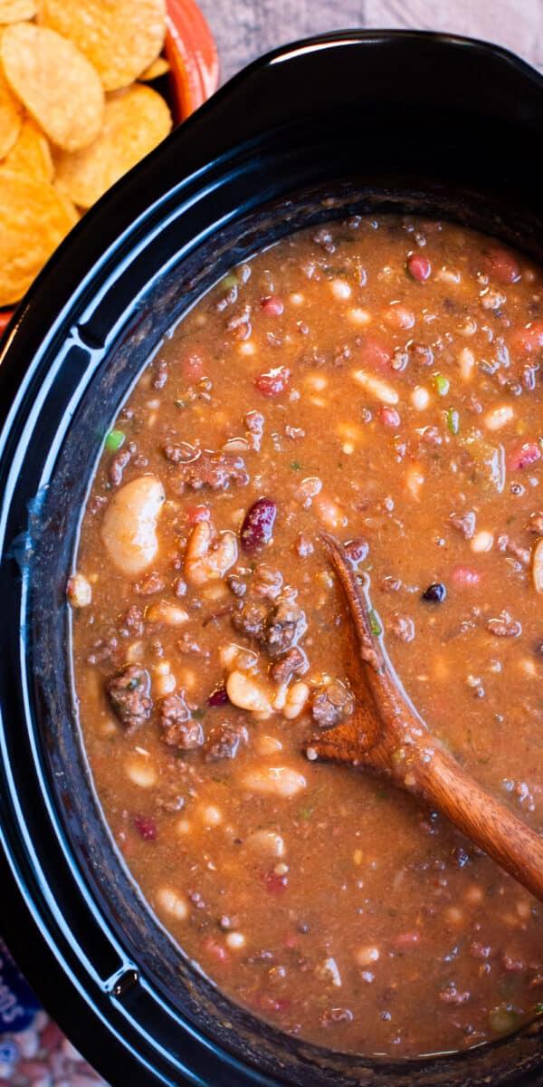 close up of taco 15 bean soup image