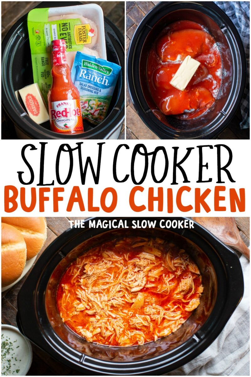 collage of buffalo chicken recipes for pinterest