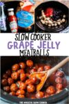 collage of grape jelly photos for pinterest