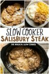 collage of salisbury steak photos for pinterest