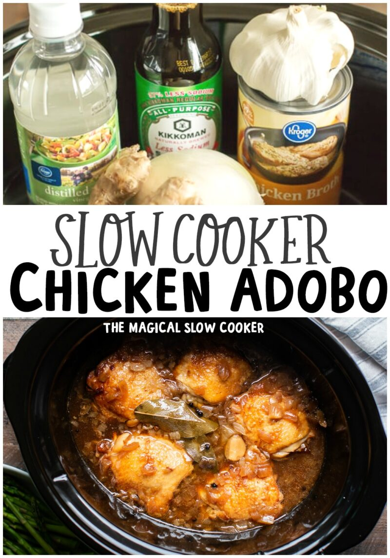 collage of chicken adobo recipes for pinterest