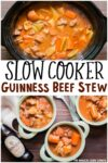 collage of guinness beef stew photos for pinterest
