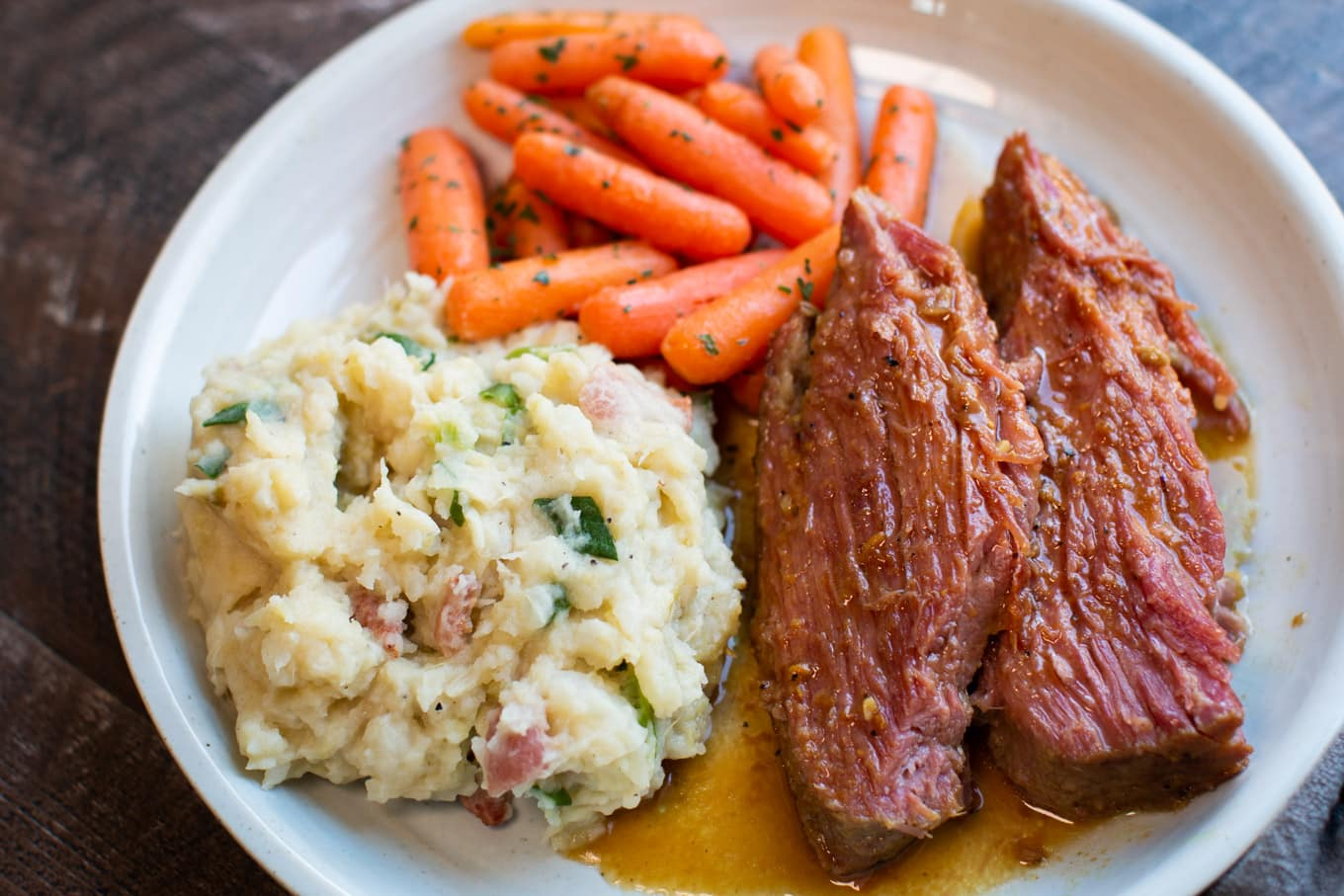 Slow Cooker Maple Mustard Corned Beef - The Magical Slow ...