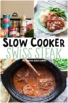 collage of swiss steak photos for pinterest