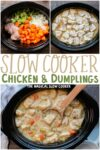 collage of chicken and dumpling photos for pinterest