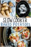 collage of photos of baked potatoes for pinterest