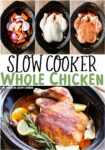 collage of images of whole chicken with text overlay