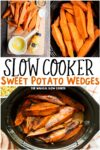 collage of sweet potato images with text overlay for pinterest