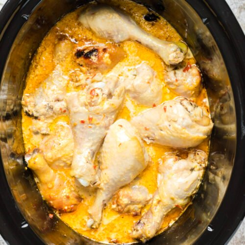 cooked bang bang chicken in slow cooker